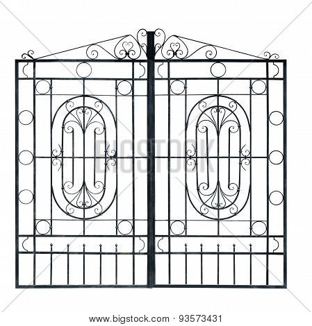 Old  Light  Forged  Decorative Gates.