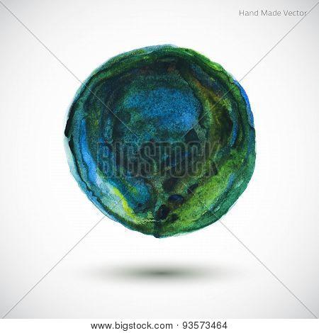Vector Watercolor Earth