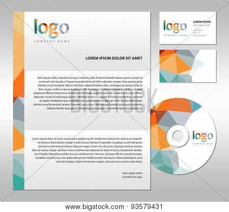 Stationary template set corporate simple