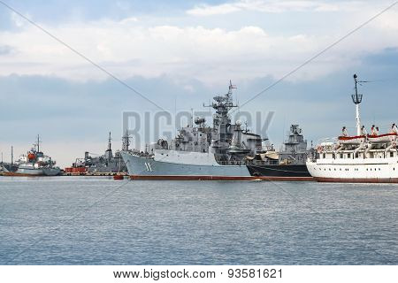 Frigate Smely Of Bulgarian Navy Stands In Varna