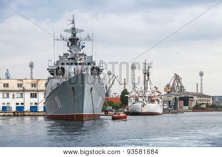 Frigate Smely Of Bulgarian Navy Stands Moored