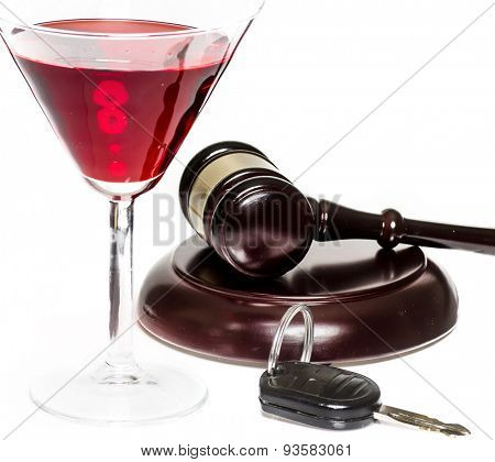 Drink driving DUI legal law concept image