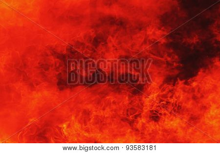 Background Of Fire As A Symbol Of Hell And Inferno