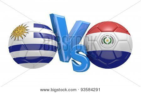 Football competition, national teams Uruguay vs Paraguay