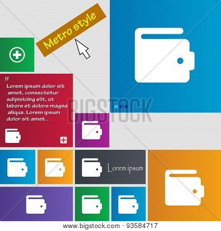Purse Icon Sign. Buttons. Modern Interface Website Buttons With Cursor Pointer. Vector