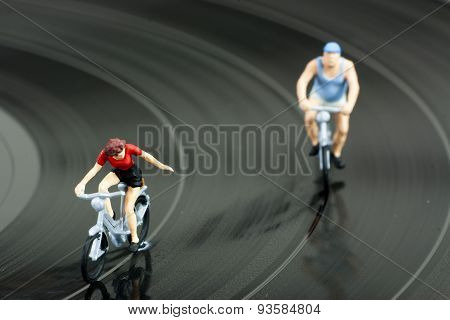 Two Model People In Cycle Race
