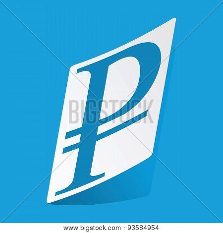 Ruble sticker