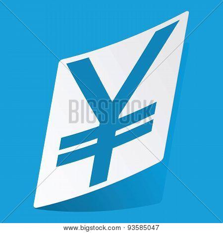 Yen sticker