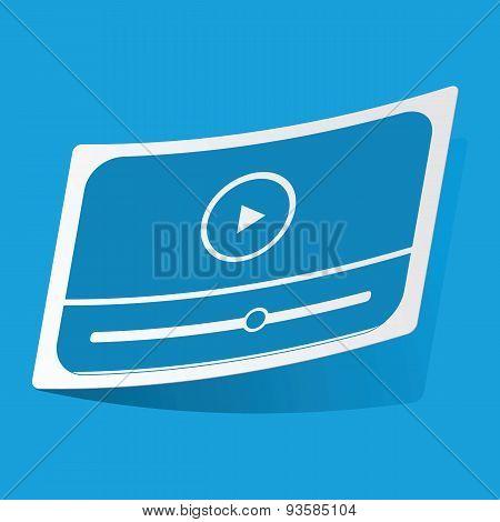 Mediaplayer sticker