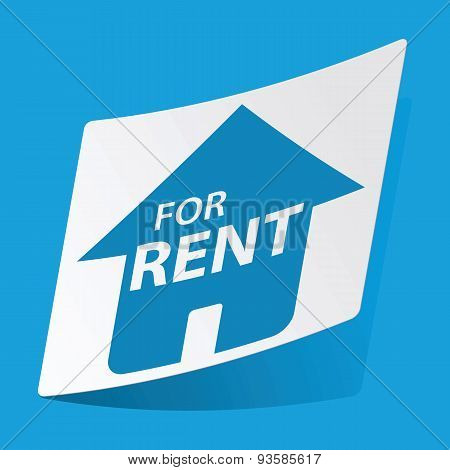 House for rent sticker