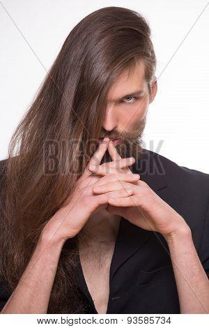Bearded top model
