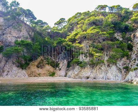 Coastline Near Tossa De Mar (Spain)