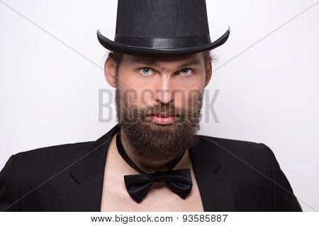 Bearded model