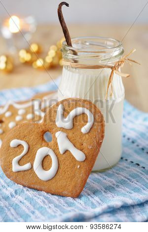 Christmas gingerbread and milk for Santa