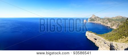 The Panorama Of Cape Formentor On Mallorca Island, Spain