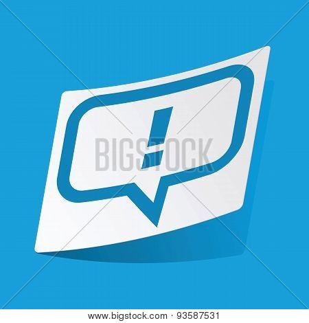 Answer message sticker