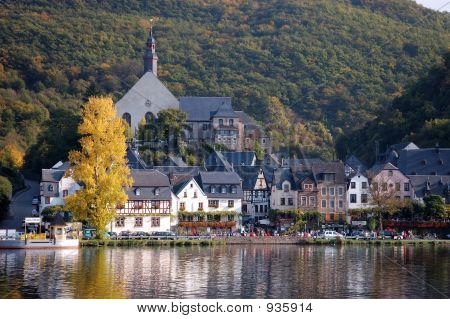 A Town On The Moselle River In Germany
