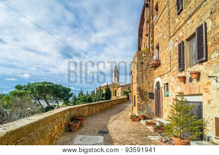 Street View In Pienza, Italy