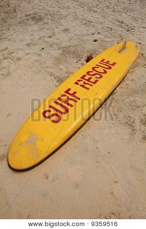 Lifeguard surf board.