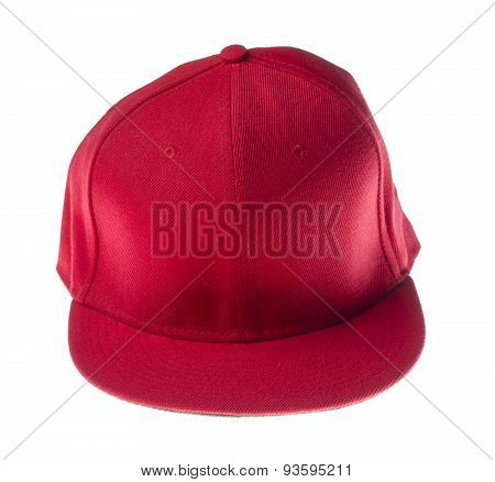 red headgear isolated on white background