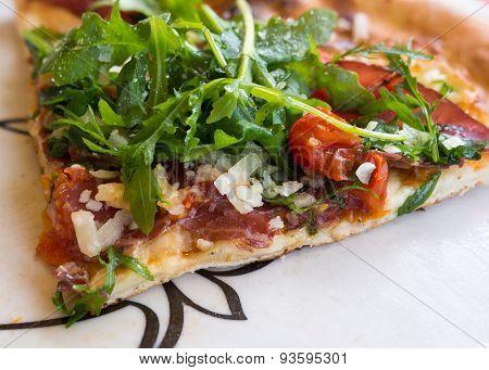 Mediterranean Pizza Close-up
