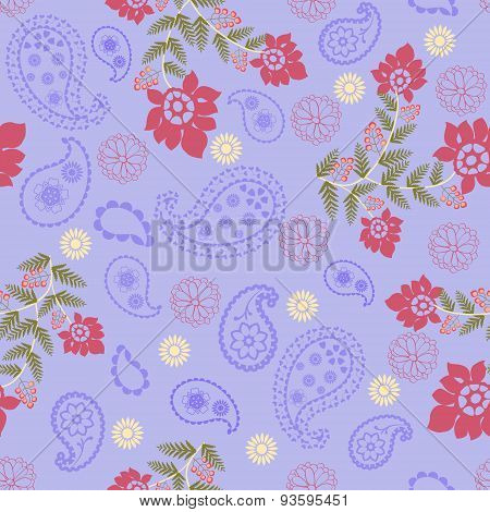 Romantic Beauty Pattern With Flower And  Paisley-