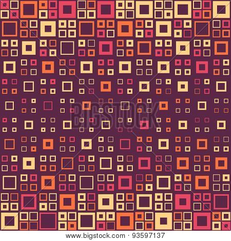 Seamless Square Pattern. Abstract Background. Vector Regular Texture