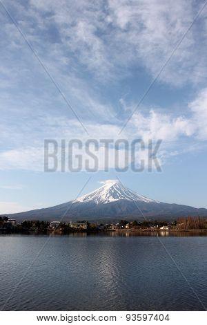 Mount Fuji In Kawaguchiko Lake View.