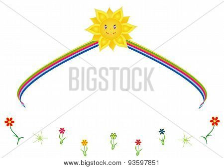 The sun with rainbow