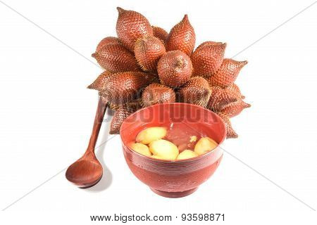Tropical fruit : (Snake/ Salak/ Salacca/ Sala) and Desserts made from Snake fruit