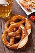 stock photo of pretzels  - Pretzel - JPG