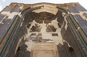 image of tabriz  - decorated entrance to the 15th century Kabud mosque in Tabriz - JPG