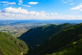 picture of italian alps  - Mountain landscape from Monte grappa Italy Italian alps - JPG