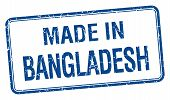 foto of bangladesh  - made in Bangladesh blue square isolated stamp - JPG
