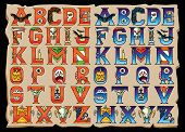 picture of initials  - A set of 26 letters available in 2 colors - JPG