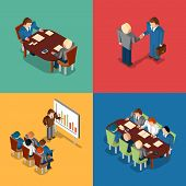 foto of coworkers  - Isometric 3D business people icons - JPG