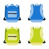 picture of knapsack  - Schoolbag icon set - JPG