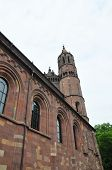 stock photo of worm  - Colorful and crisp image of cathedral Saint Peter in Worms Germany - JPG
