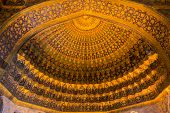 stock photo of mausoleum  - decorated ceiling in the Ghandil Khaneh of the Sheikh Safi mausoleum - JPG