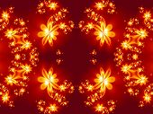 picture of fractals  - Flower fire pattern in fractal design - JPG