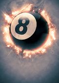 image of snooker  - Abstract billiard pool snooker invitation poster or flyer background with empty space - JPG