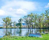 stock photo of crimea  - lake in Crimea spring nature in Crimea - JPG