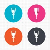 foto of sparkling wine  - Circle buttons - JPG