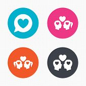 stock photo of gay symbol  - Circle buttons - JPG