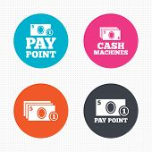 foto of cash  - Circle buttons - JPG