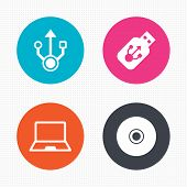 picture of usb flash drive  - Circle buttons - JPG