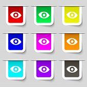 foto of senses  - sixth sense the eye icon sign - JPG