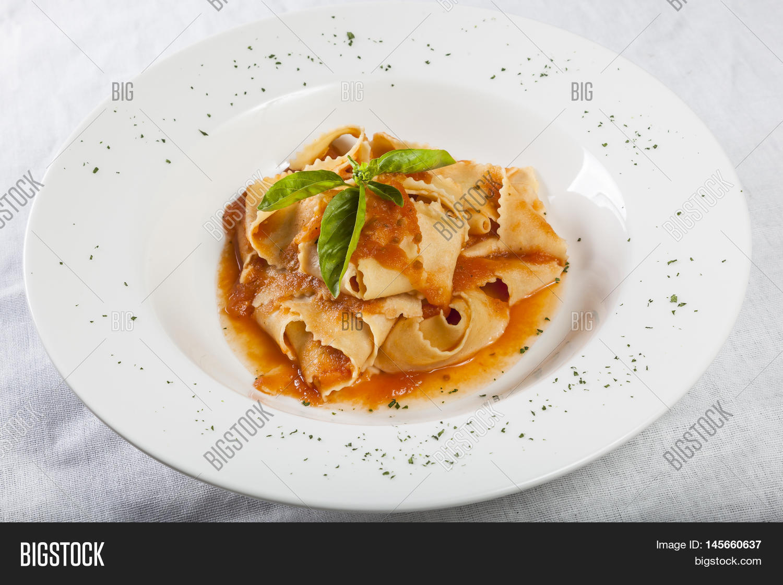 Pappardelle Tomato Sauce Fresh Image & Photo | Bigstock