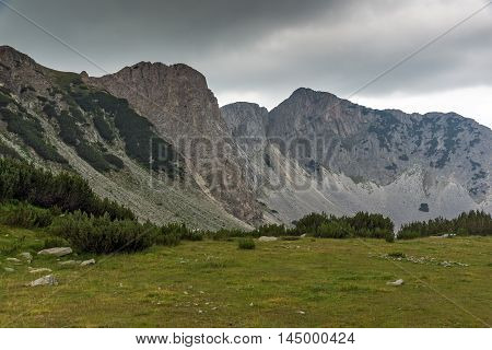 Landscape with Dark clouds over Sinanitsa peak, Pirin Mountain, Bulgaria