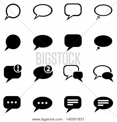 Vector Set Of Bubbles Icons